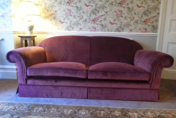 Luxury Velvet Pink Recovered Sofa