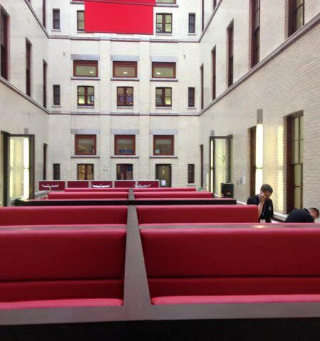 Red Leather Seating – HM Treasury